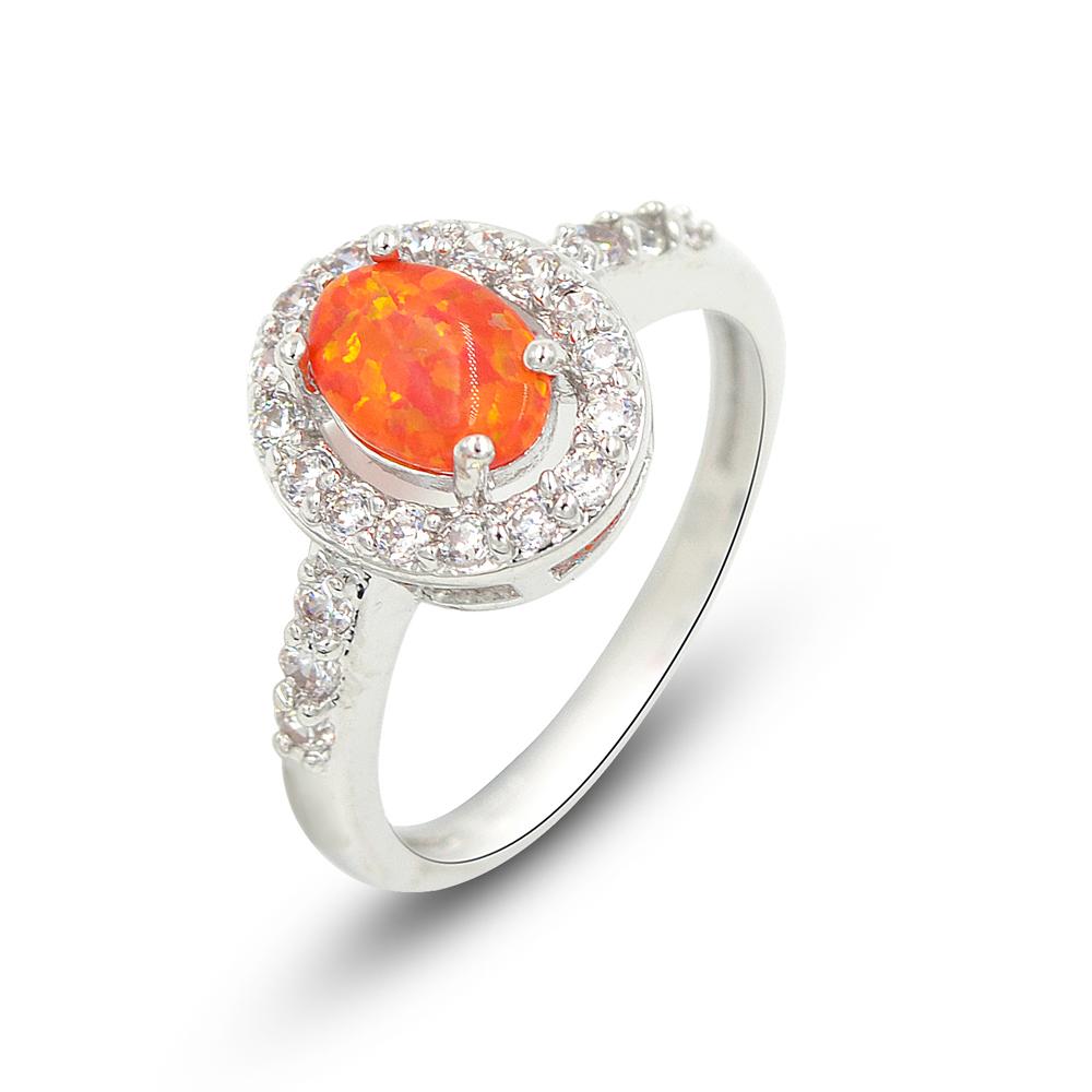 Orange Cushion Cut Opal Ring – espere jewelry