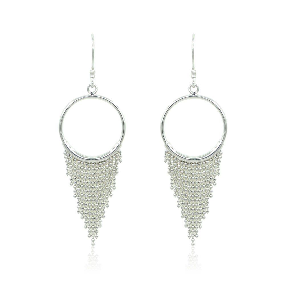 silver dajani nadia sliver earrings with gp drop roman stone hoop