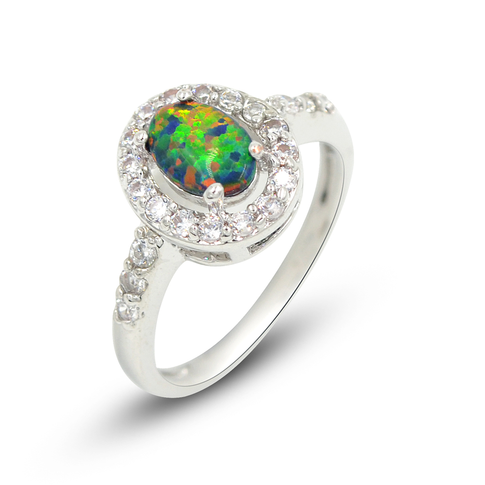 Black Cushion Cut Opal Ring – espere jewelry